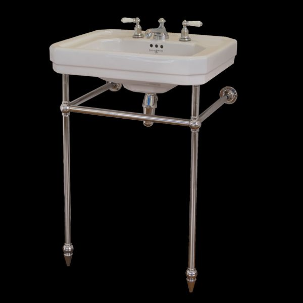 art deco bathroom sinks hawthorn hill square front basin stand for perrin amp rowe 15438