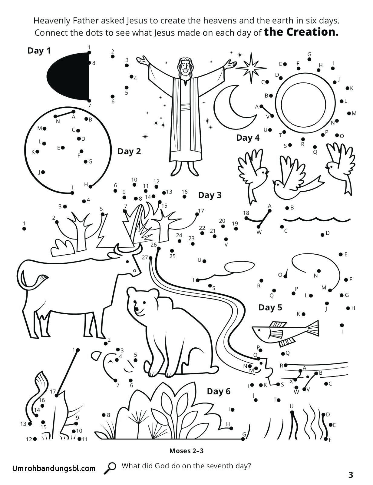 Days Of Creation Coloring Pages Beautiful Days Of Creation ...