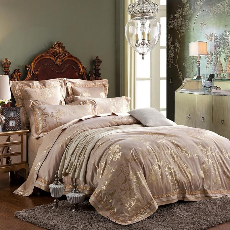 New 4 6 Pieces Jacquard Luxury Bedding Set Queen King Size Bed Set