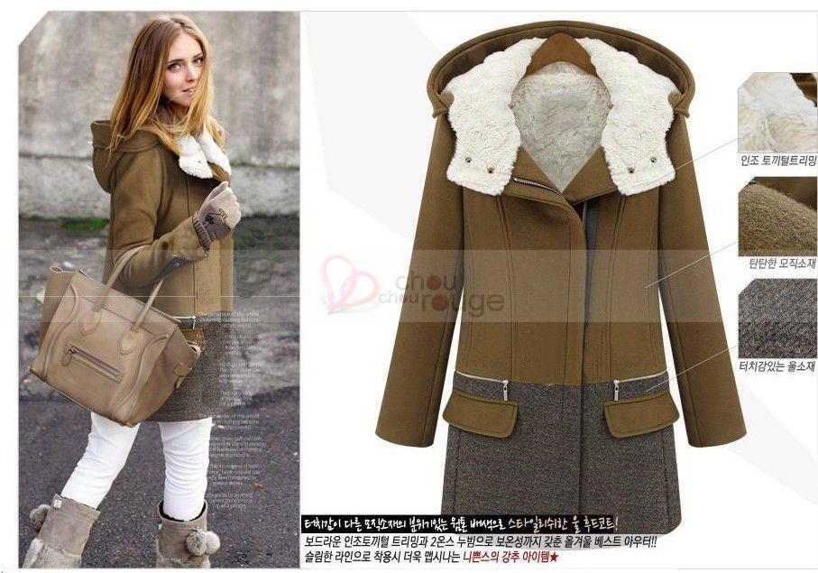 Fourrure Style Femme Avec En Col Manteau Blanche Glamour 56 99 xRYqwaa