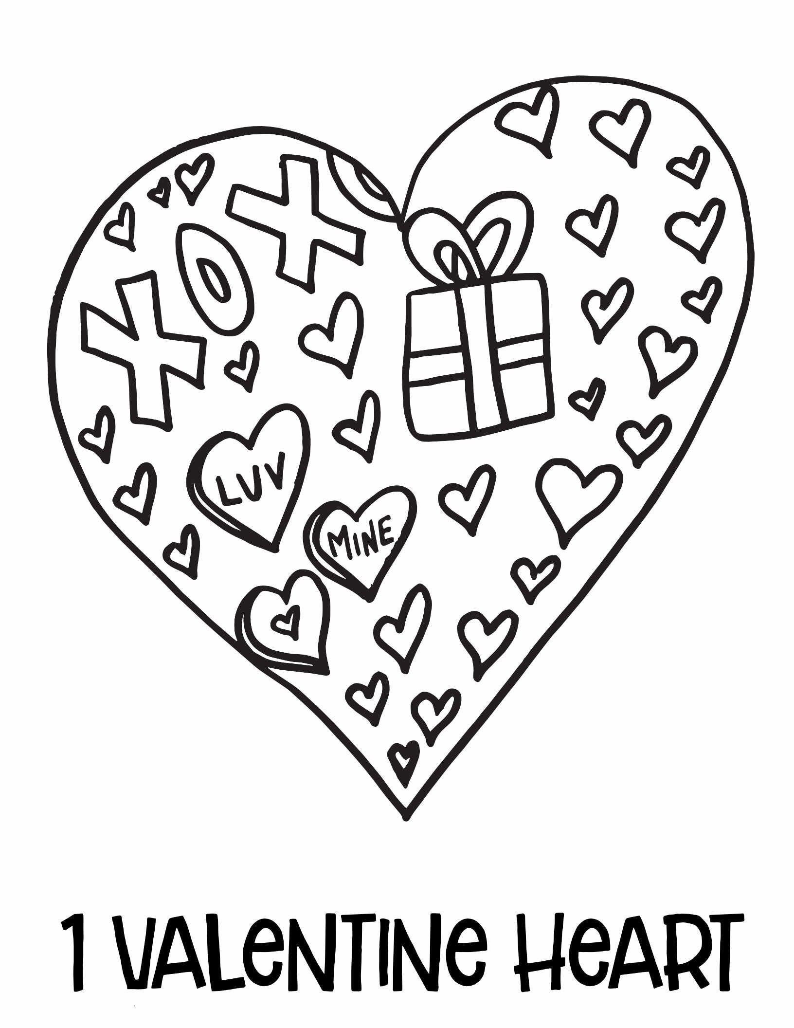 Free Valentine's Day Coloring Pages - Numbers 1 - 10 in ...