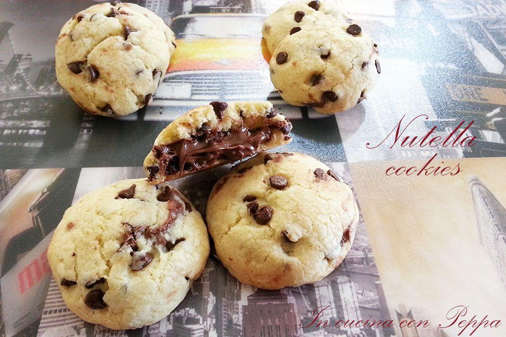 Ricetta Cookies Facile E Veloce.Nutella Cookies Ricetta Facile E Veloce In Cucina Con Peppa Ricette Ricette Nutella Ricette Facili
