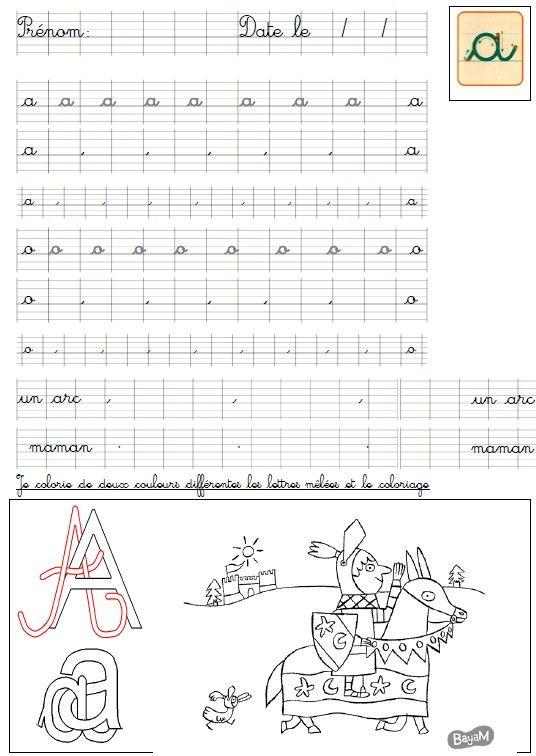 ficheecriture6 | Activités Alphabets/ apprentissage lecture et sons ...