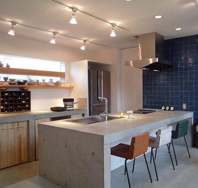 Kitchen おしゃれまとめの人気アイデア Pinterest みずのゆうすけ リビング キッチン コンクリートキッチン リノベーション キッチン