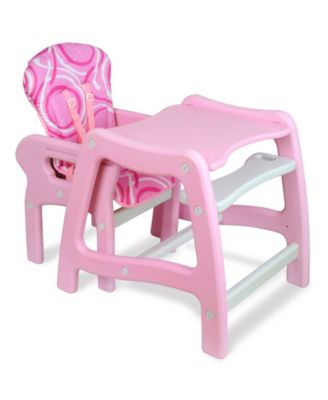Envee Baby High Chair with Playtable Conversion - Pink | Products