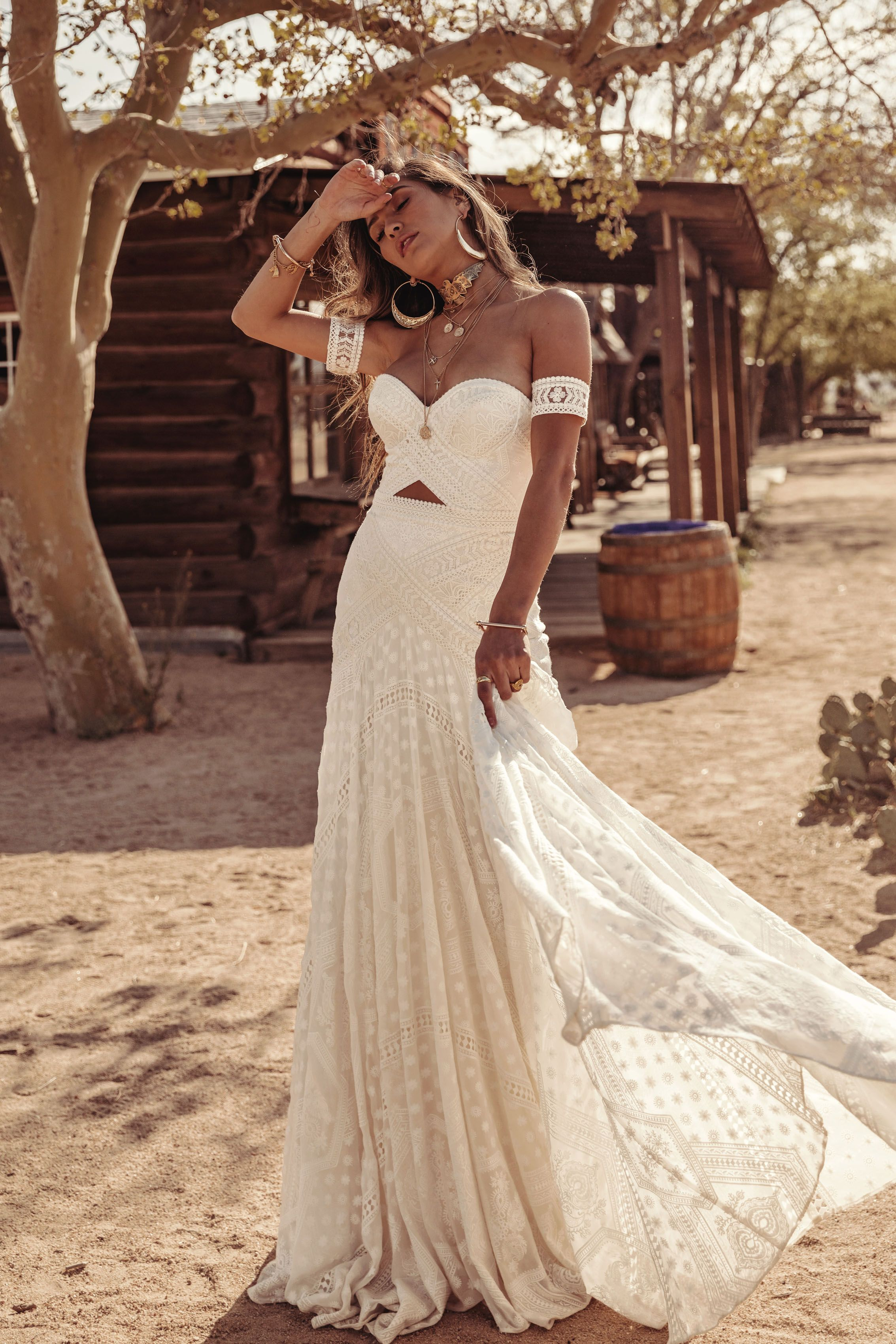 Knoxville Gown By Rue De Seine Moonrise Canyon Collection 2019 Bridal Gown Bohemian Wedding Dress Bustier Wedding Bustier