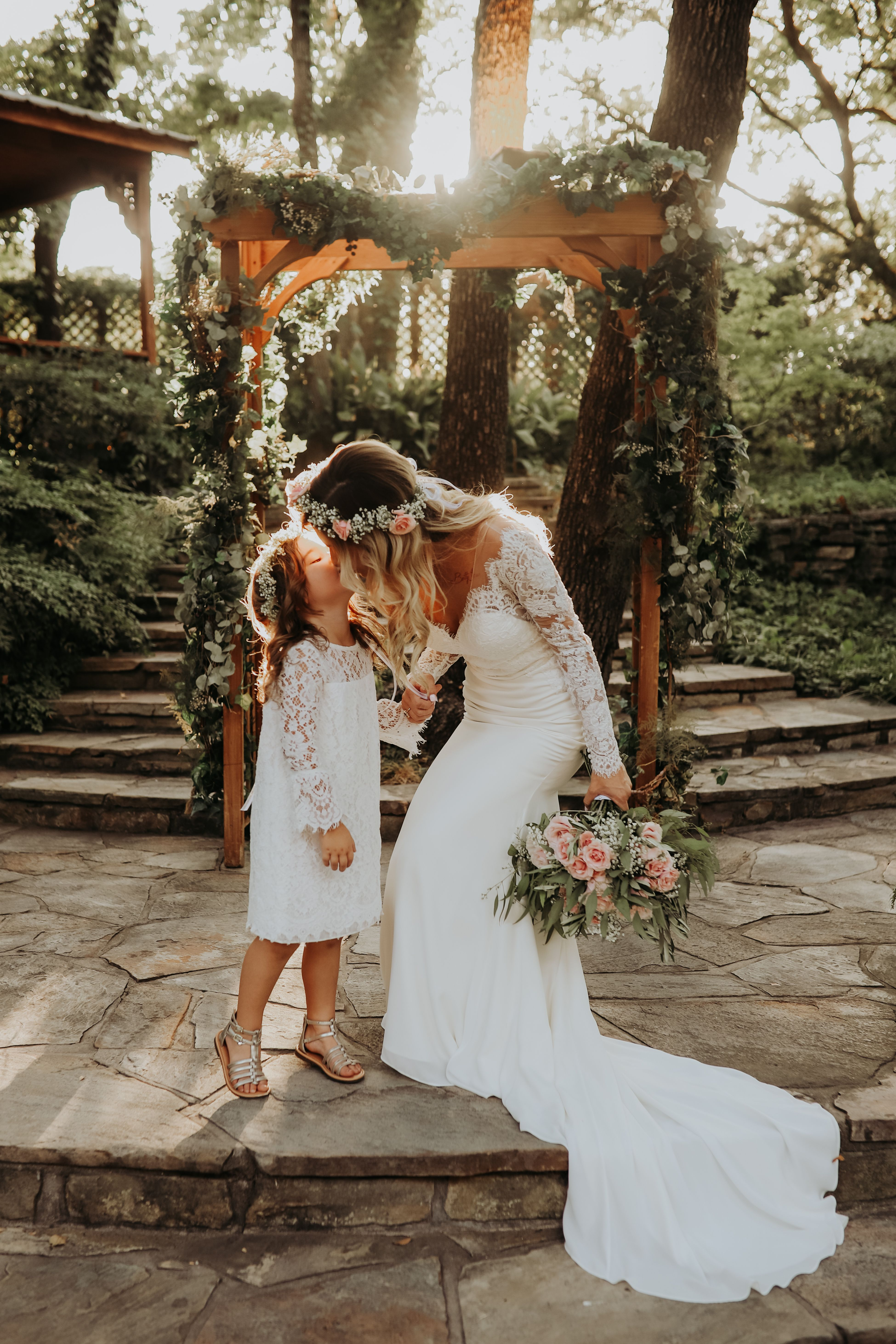 the sweetest mother daughter moment Lesbian wedding