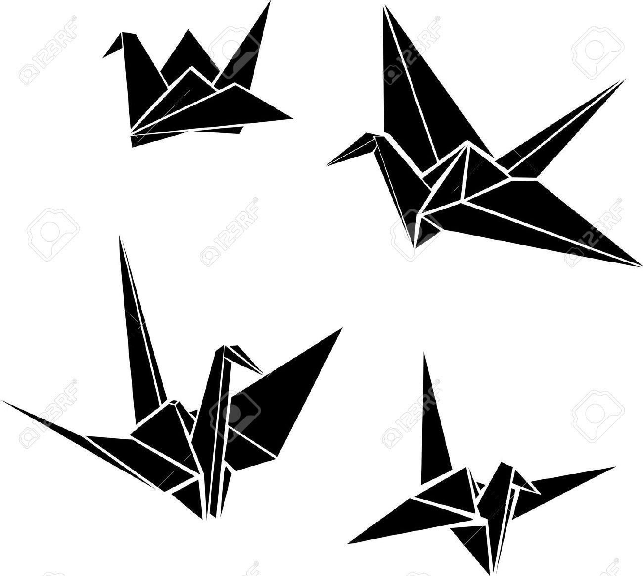 Origami Crane Cliparts, Stock Vector And Royalty Free ... - photo#6