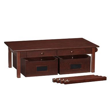 Pottery Barn Train/Activity Table With Drawers U0026 2 Sets Of Legs (short U0026