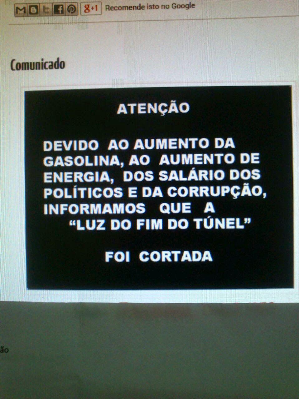 Brasil-Corrupção-2016-Comunicado-Atenção. Devido ao aumento da gasolina... (1)