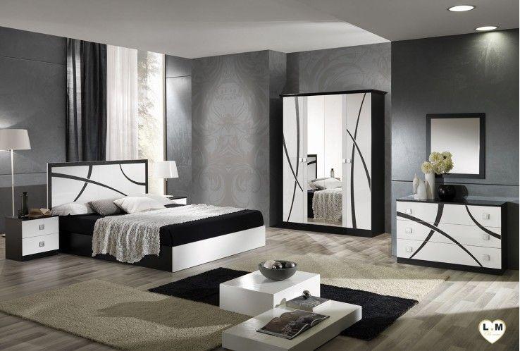 Amazonie Laque Blanc Et Noir Ensemble Chambre A Coucher With Images Bedroom Bed Design Black Bedroom Furniture Set Living Room Decor Apartment