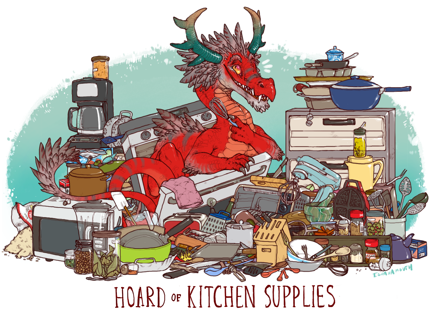 This Dragon Probably Doesnt Even Know What Half Of These Things Are For A Wafflemaker Lets Be Real Here Size 11 B Dragon Art Fantasy Dragon Cute Dragons