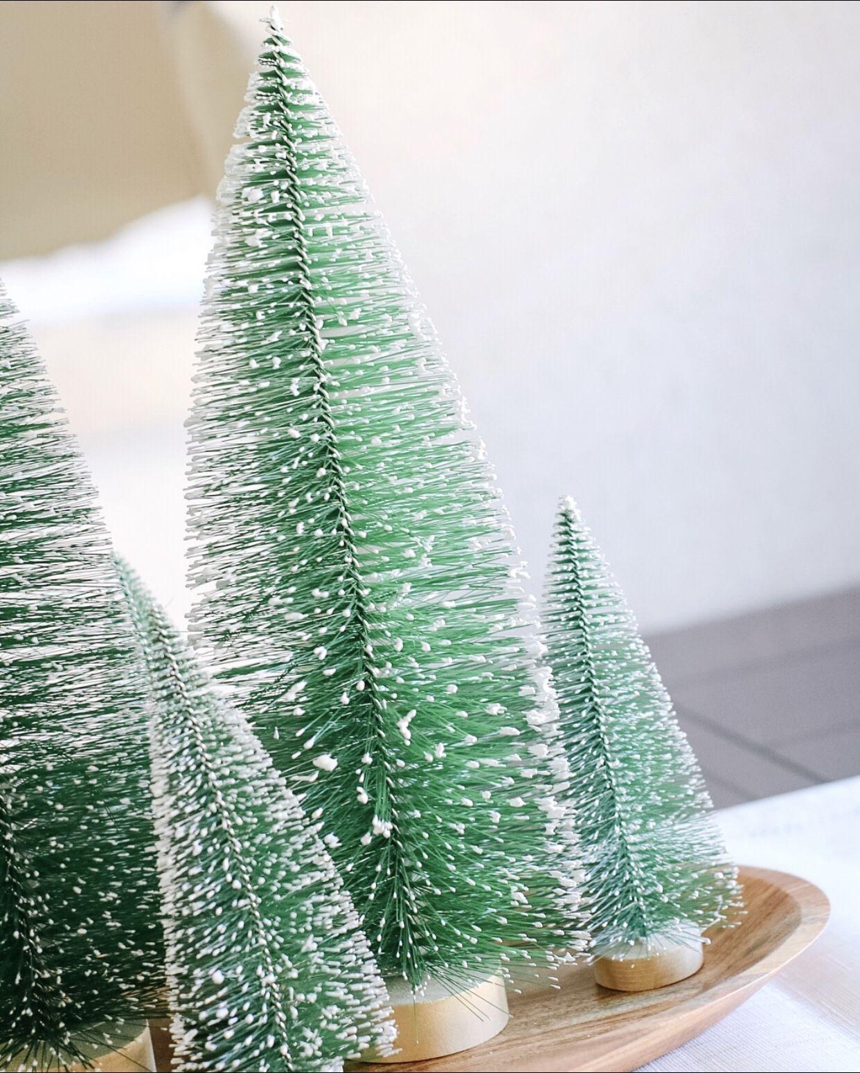 Christmas Christmas Decorations Bottle Brush Christmas Trees Christmas Tree Decorations
