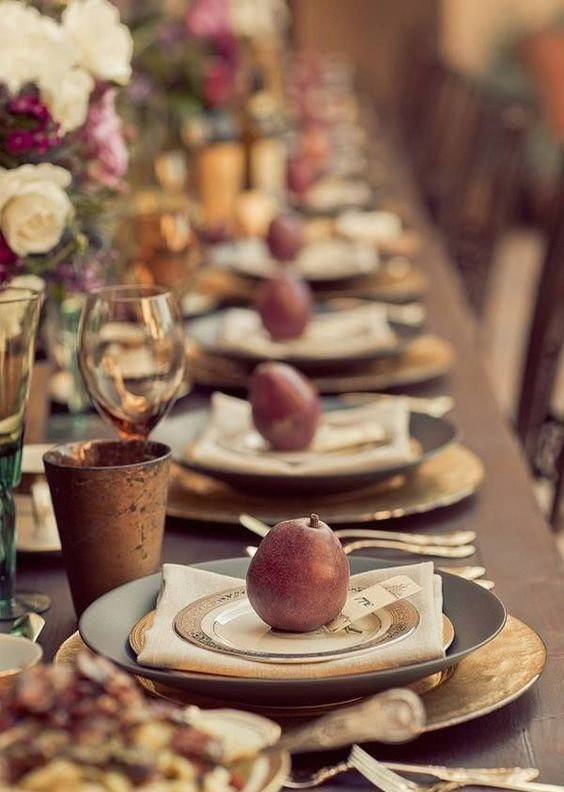 personalize each seat with a fruit or vegetable