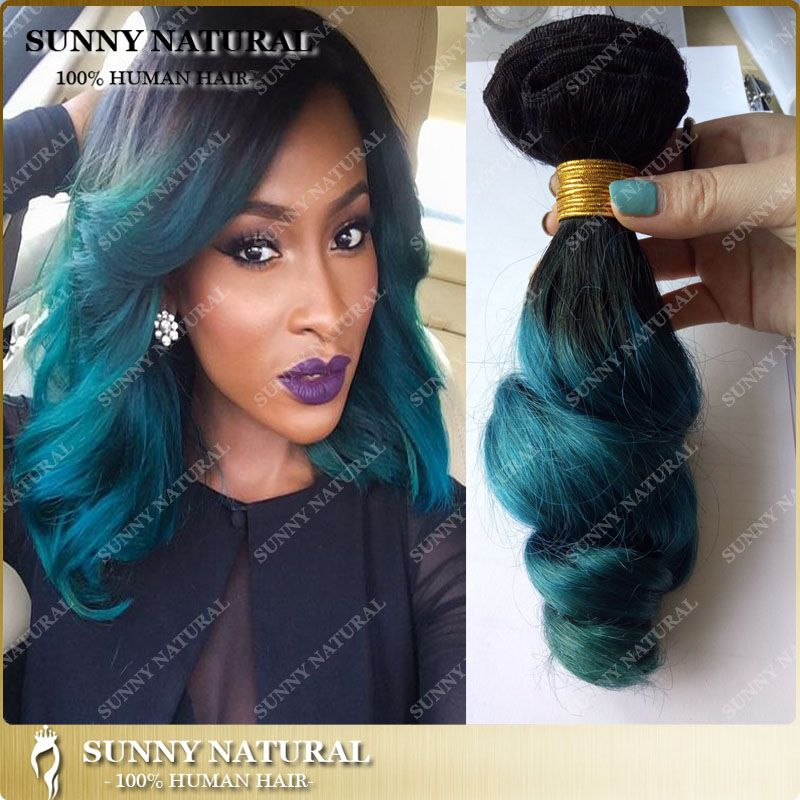 Find more human hair extensions information about 1bgreen find more human hair extensions information about 1bgreen turquoise ombre hair extensions 7a ombre pmusecretfo Gallery
