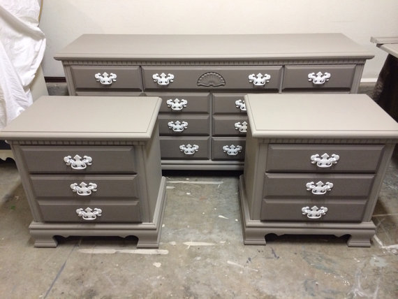Best Two Toned Grey 9 Drawerdresser Changing Table Credenza Tv 400 x 300