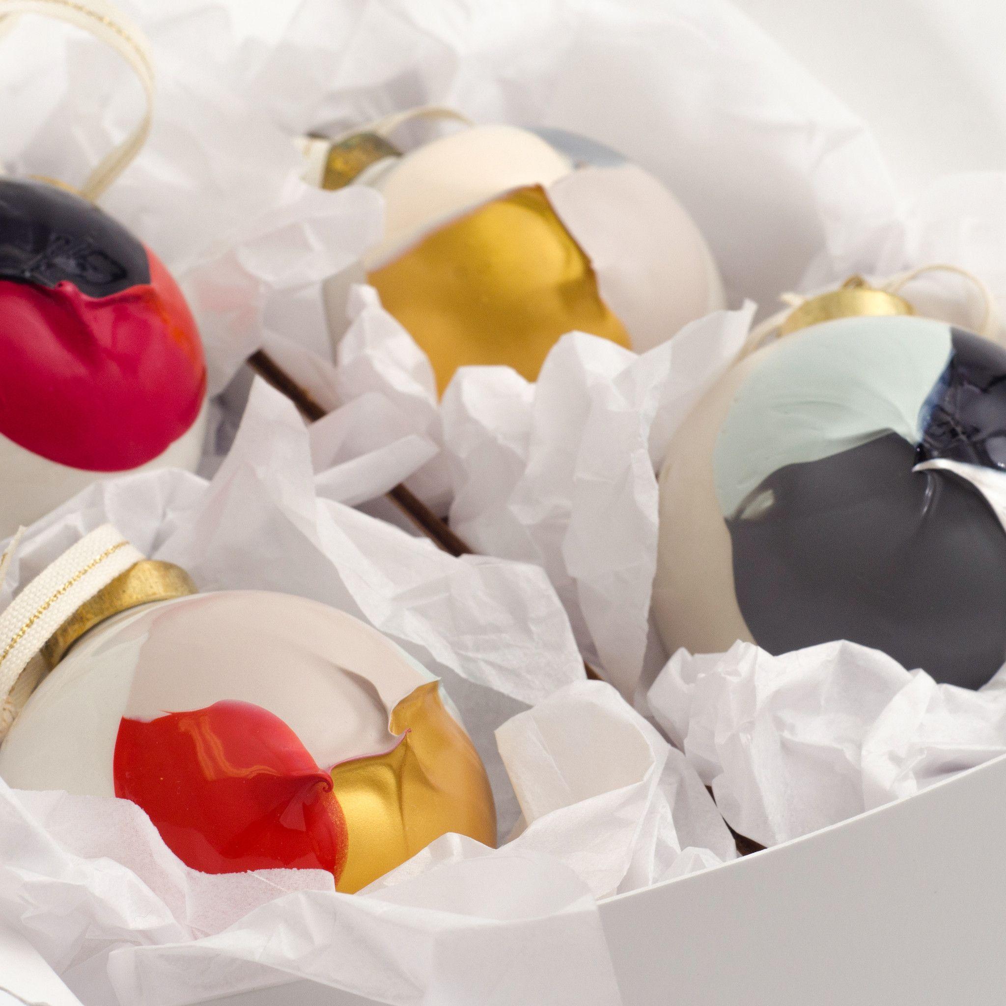 Hand-Painted Porcelain Ornaments
