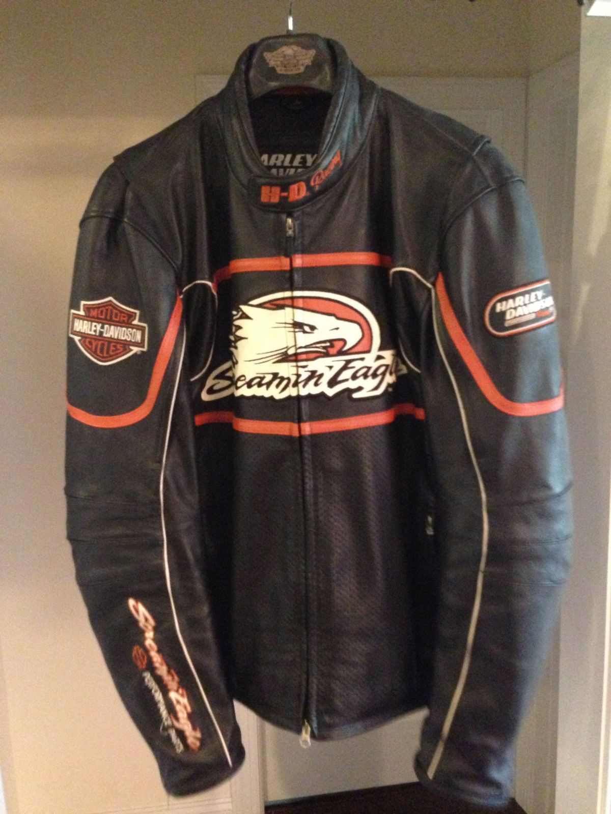 Harley Davidson Mens Screamin Eagle Raceway Leather Jacket Size Large 98226 06vm