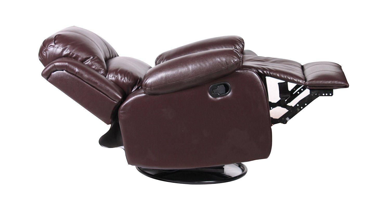 Best Amazon Com Bonded Leather Rocker And Swivel Recliner 640 x 480