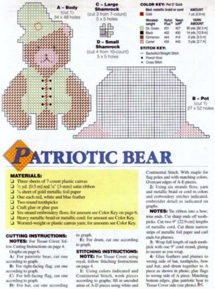 TEDDY BEAR TISSUES 3/8