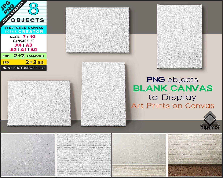 Blank Stretched Canvas On Wall Floor Custom Scene Creator Etsy Stretch Canvas Scene Creator Custom Scene