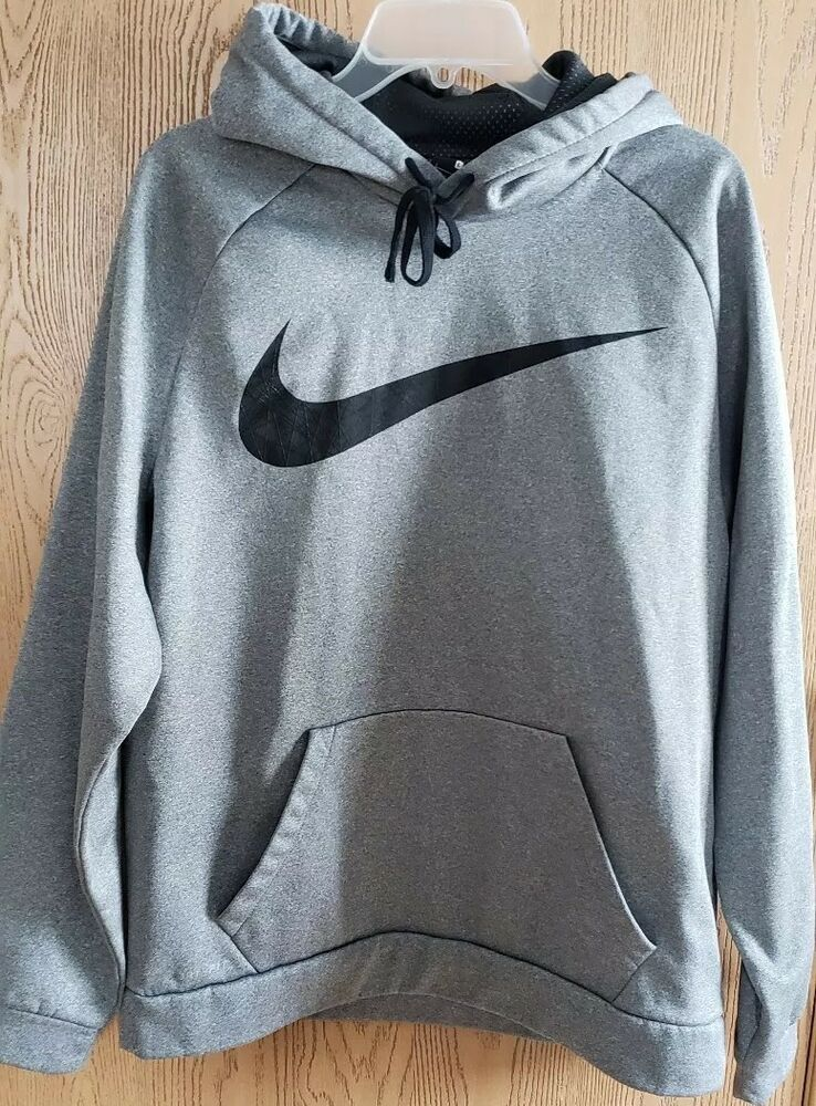 845648a87dee Men s Nike Dri Fit Hoodie Grey with Black Check Size Large  Nike  Hoodie