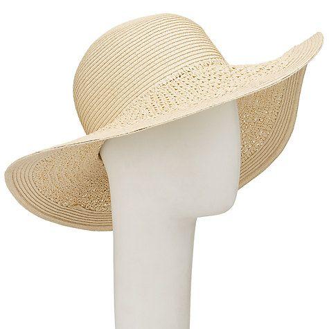 31b3e1bb Buy John Lewis Packable Weave Mix Floppy Sun Hat, Natural Online at  johnlewis.com