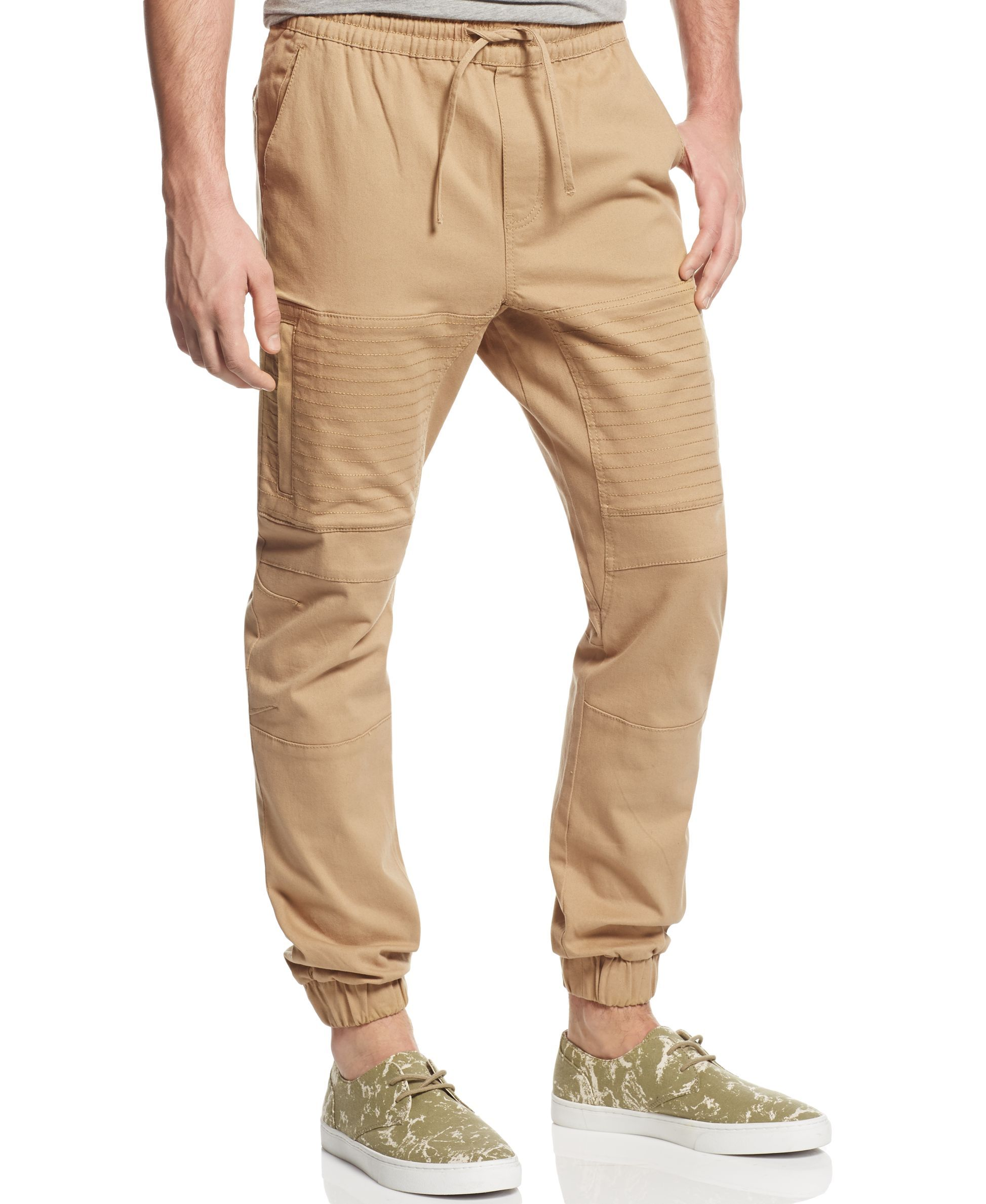 Basement by Ring of Fire Men's Twill Biker Jogger Pants, Only at Macy's -  Pants - Men - Macy's