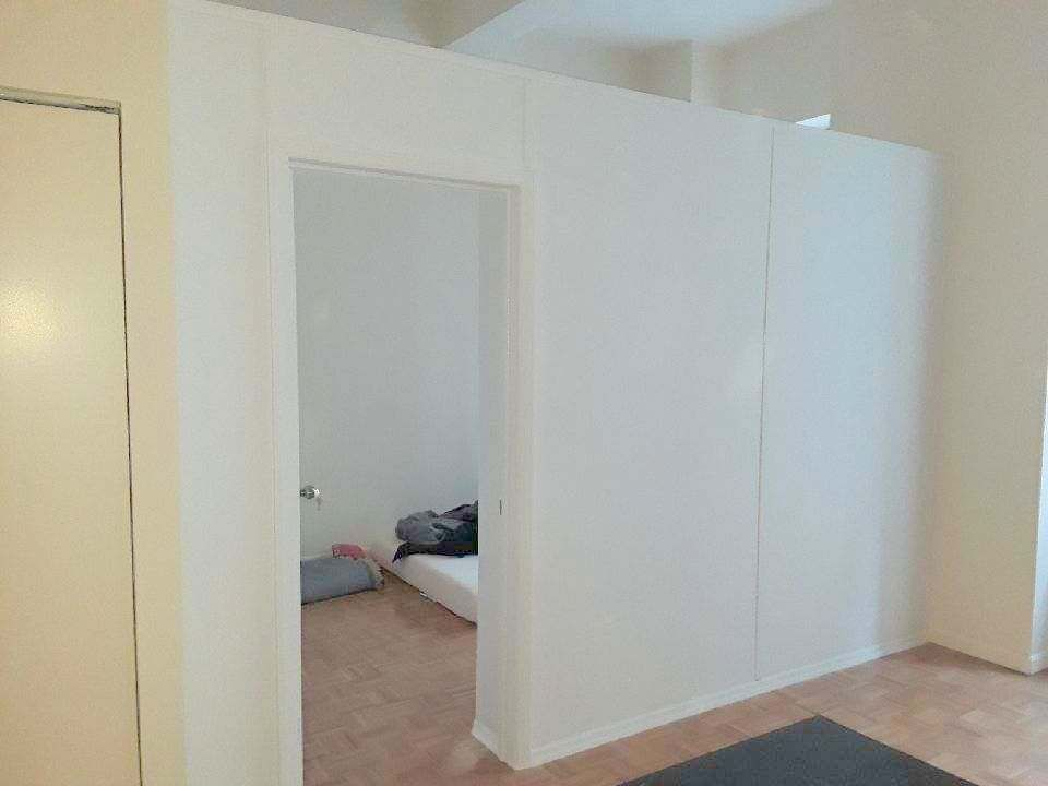 Temporary Room Divider With Standard Swing Door Call Us For All