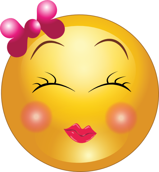 Cute Girl Smiley Faces | Cute Shy Girl Smiley Emoticon
