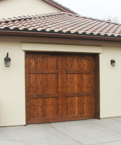 Wood Garage Door For Spanish Style House Architecture Parent S
