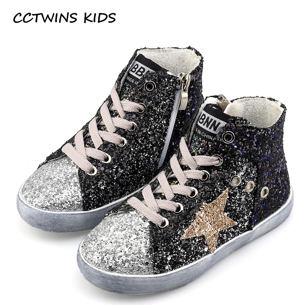 e0a36ef3dfd Children and Young. CCTWINS BAMBINI 2017 Bambini Ragazzo di Marca Glitter  High Top Sneaker Baby Girl Fashion Trainer Bambino Cuoio Paillettes Scarpa  F1701