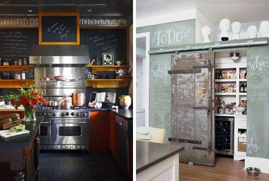 Chalkboard Paint Wall | Chalkboard Paint Wall Kitchen Pantry Doors  Backsplash