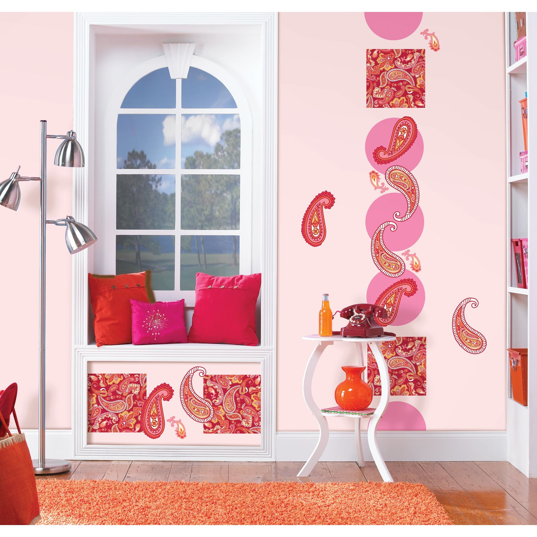 WallPops Wall Pops Paisley Please Red/ Pink Sticker Decals