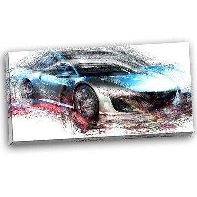 Ebern Designs 'Exotic SuperCar' Painting Print on Wrapped Canvas | Wayfair