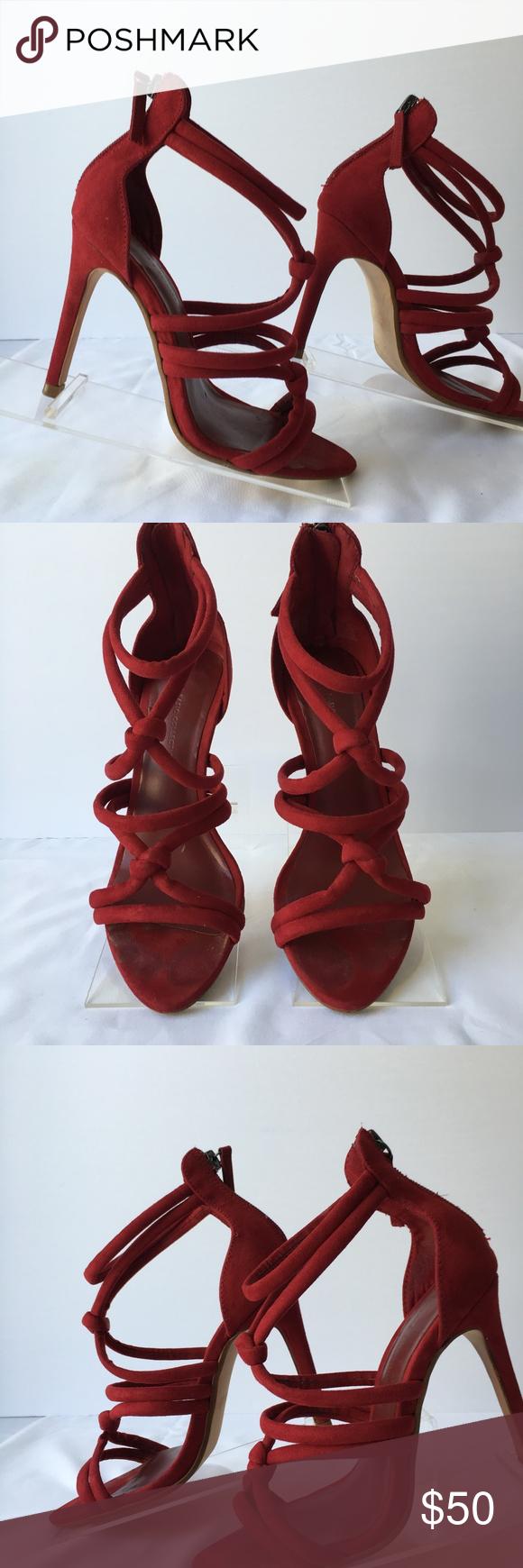 zara red strappy sandals