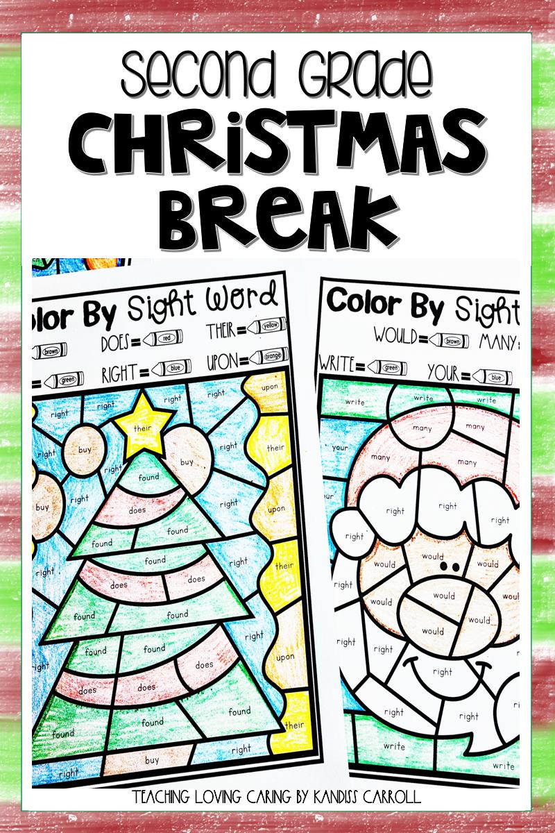 Second Grade Christmas Break Packet Christmas Reading Subtraction Activities Christmas Break [ 1200 x 800 Pixel ]