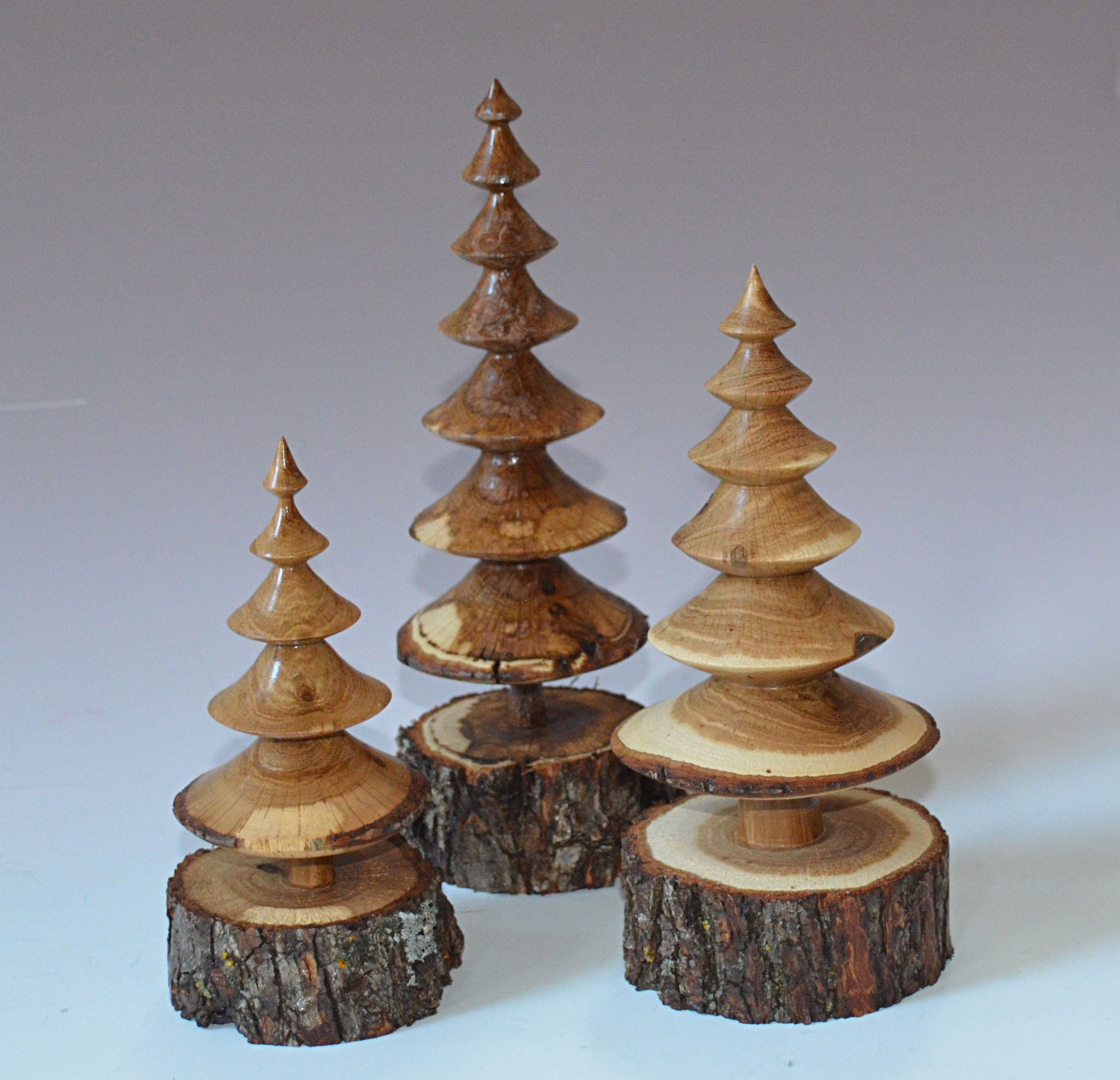 Trees From Scrub Oak Branches By Dennis Liggett Wood Turning Projects Wood Turning Wood Lathe