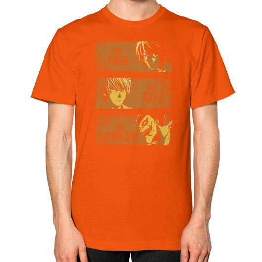 The Good, the Bad and the Shinigami Unisex T-Shirt (on man)