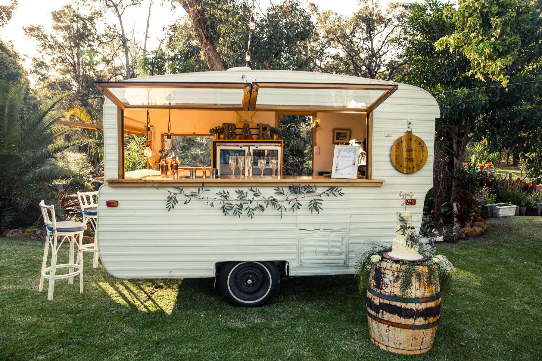 Caravan tonic vintage caravan mobile bar hire perth