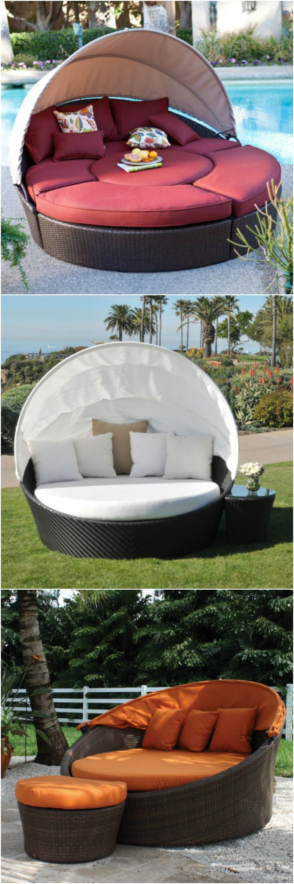 Outdoor daybeds. | Outdoor daybed, Backyard furniture ... on Living Spaces Outdoor Daybed id=32948