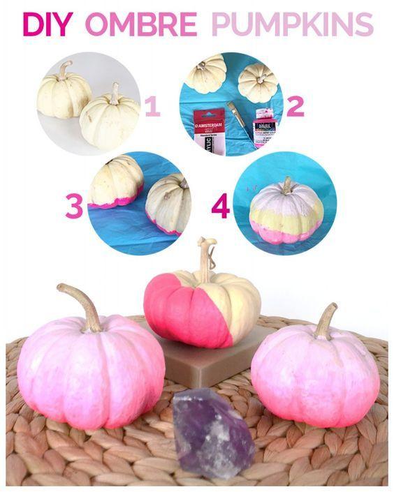 Make Your Own Ombre Pumpkin Halloween Decoration - halloween decorations to make on your own