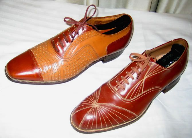 Brown And White Mens Spectator Shoes
