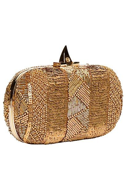 Wonderfully And Intricately Beaded Gold Clutch I Love The Spiky