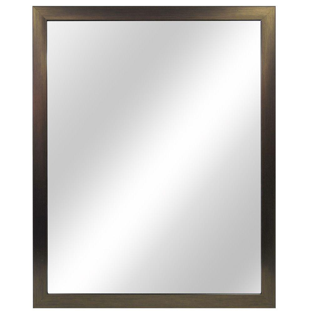 Home Decorators Collection 24 In W X 30 In H Framed Rectangular Anti Fog Bathroom Vanity Mirror In Oil Rubbed Bronze Finish 81162 The Home Depot Framed Mirror Wall Frames On Wall