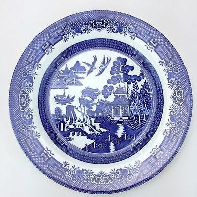 sc 1 st  Pinterest & Churchill Blue Willow Pattern Dinner Plate Made In England