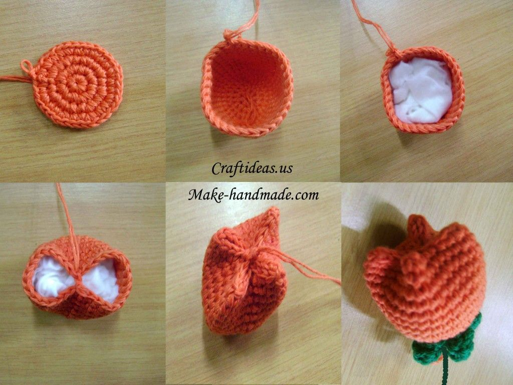 Amigurumi Flower Tutorial : Amigurumi tulip tutorial ❥ u hf crochetholic