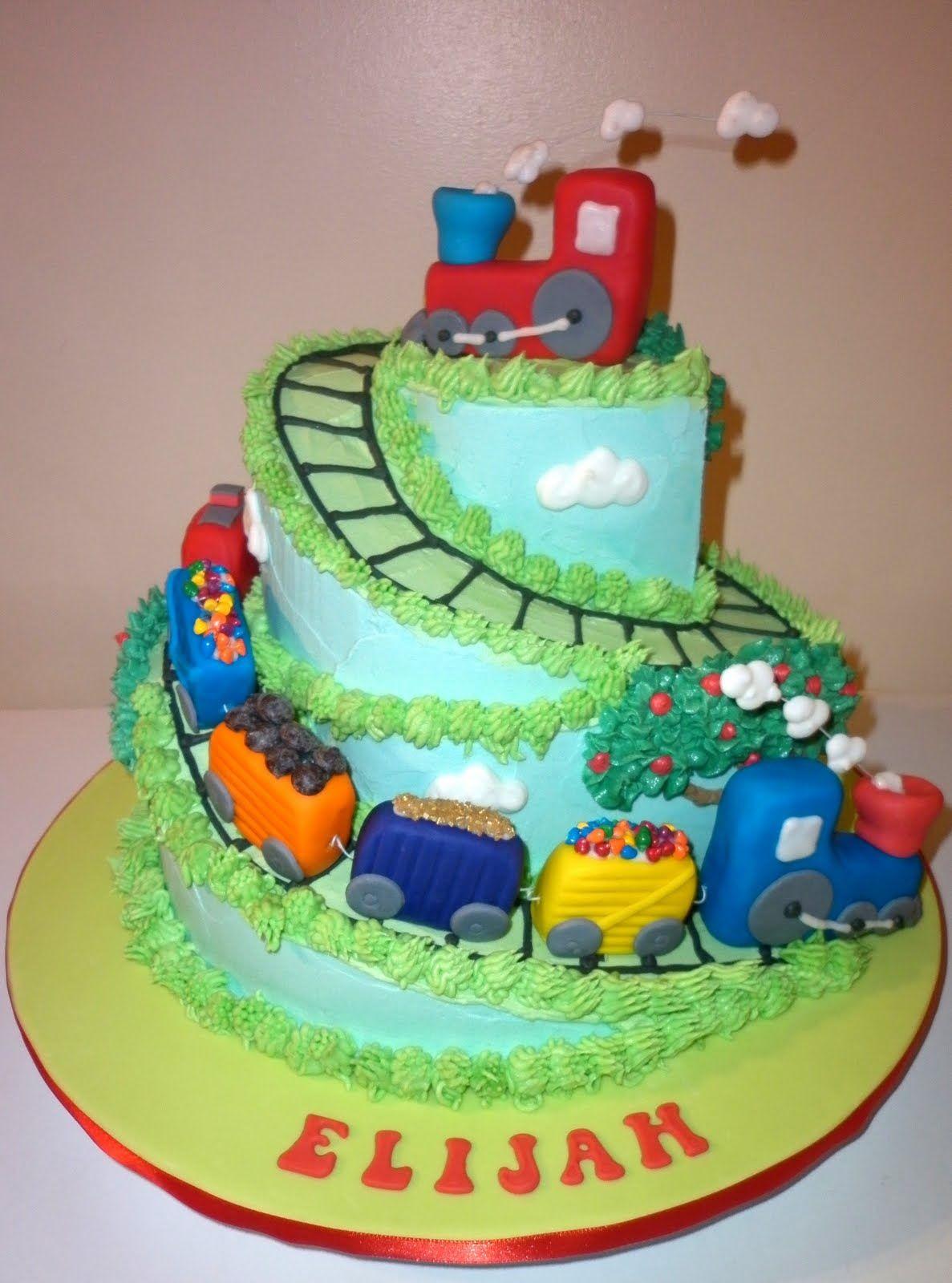 Train Cake Olivers Birthday Pinterest