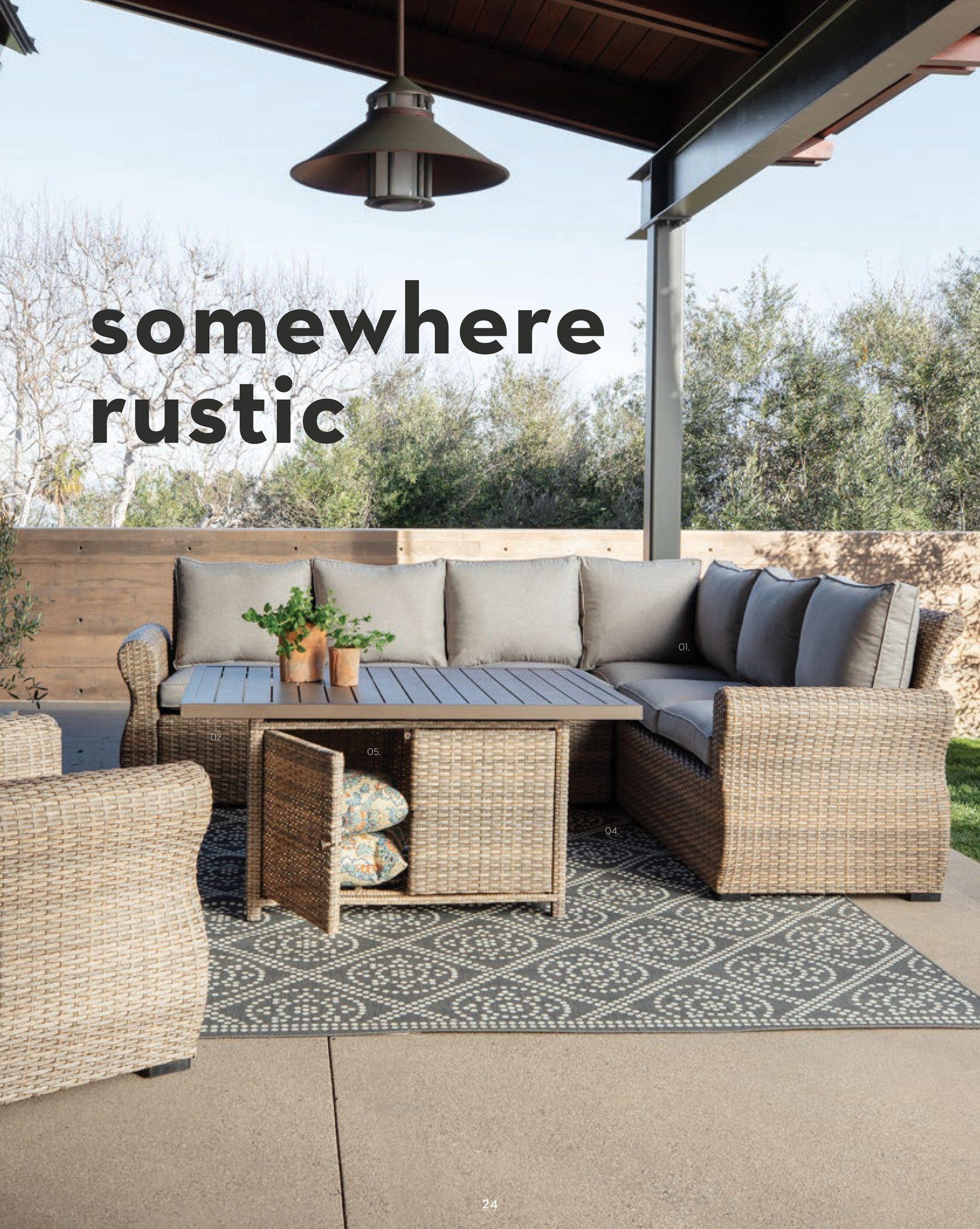 Living Spaces - Outdoor 2019 - Outdoor Malta Banquette ... on Living Spaces Outdoor Daybed id=44534