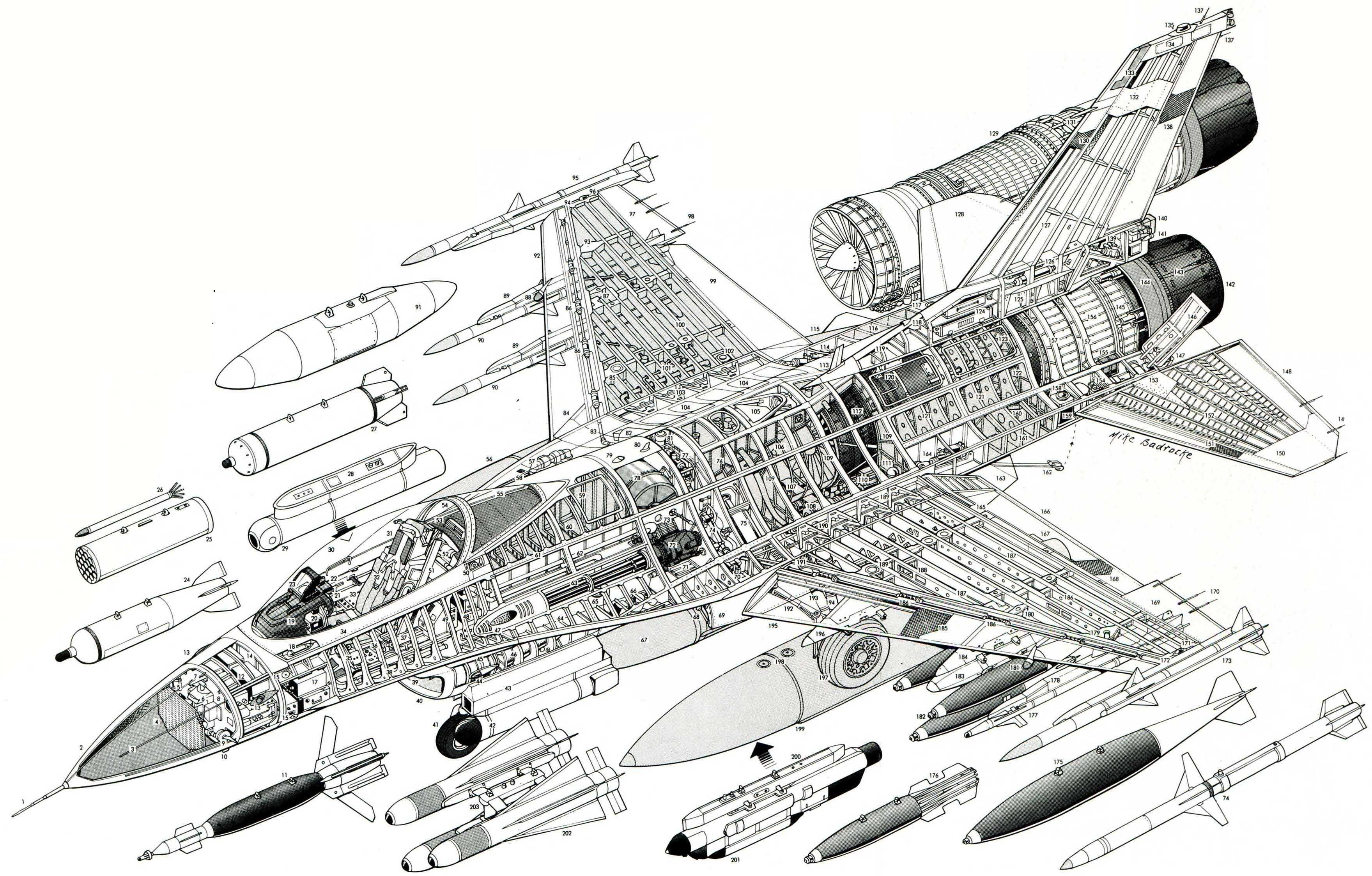 F16 Google Search Aircrafts Cutaway Details Aircraft